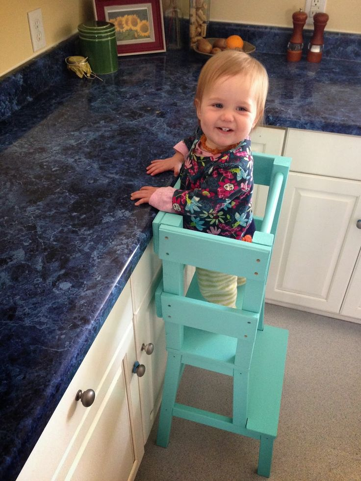 ikea hack: MYO activity tower so you can have toddlers help you in the kitchen!