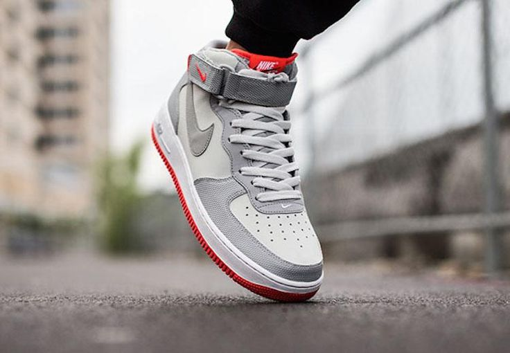 Nike Air Force 1 Mid Pure Platinum/Wolf Grey-Bright Crimson AvailableNow http://www.nicekicks.com/2015/06/29/nike-air-force-1-mid-pure-platinumwolf-grey-bright-crimson-available-now/…