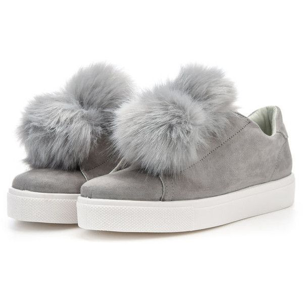 POM POM SNEAKERS Bianco ❤ liked on Polyvore featuring shoes, sneakers, laced sneakers, pom pom sneakers, lace up sneakers, lacing sneakers and laced shoes