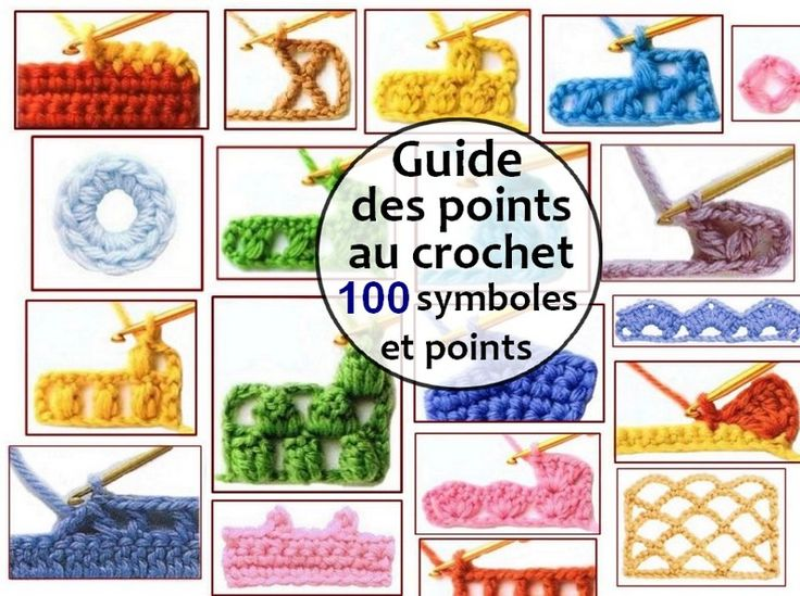 Guide des points au crochet - 100 symboles et points