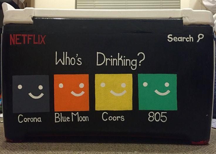 Fraternity cooler, Netflix theme, beer brands