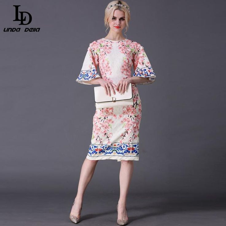 Summer Style Women's Flare Sleeve Slim Printed Jacquard Appliques Sheath Dress $73.25   => Save up to 60% and Free Shipping => Order Now! #fashion #woman #shop #diy  http://www.clothesdeals.net/product/summer-style-designer-runway-dress-womens-flare-sleeve-slim-printed-jacquard-appliques-sheath-dress