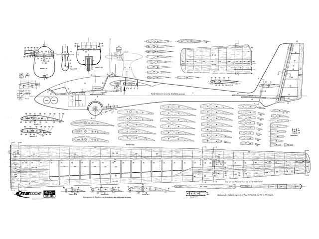 Asw 15 plan thumbnail sailplanes pinterest for Airplane plans