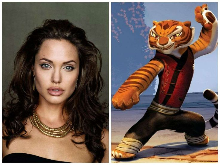 Angelina Jolie Has Voiced Several Characters Including Master Tigress in Kung Fu Panda, Lola in Shark Tale, and Grendel's Mother in Beowulf.