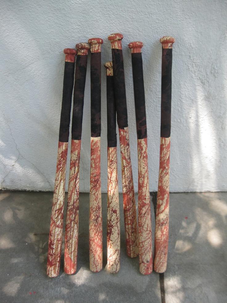 dave lowe design the blog making zombie bashing baseball bat props - Zombie Props