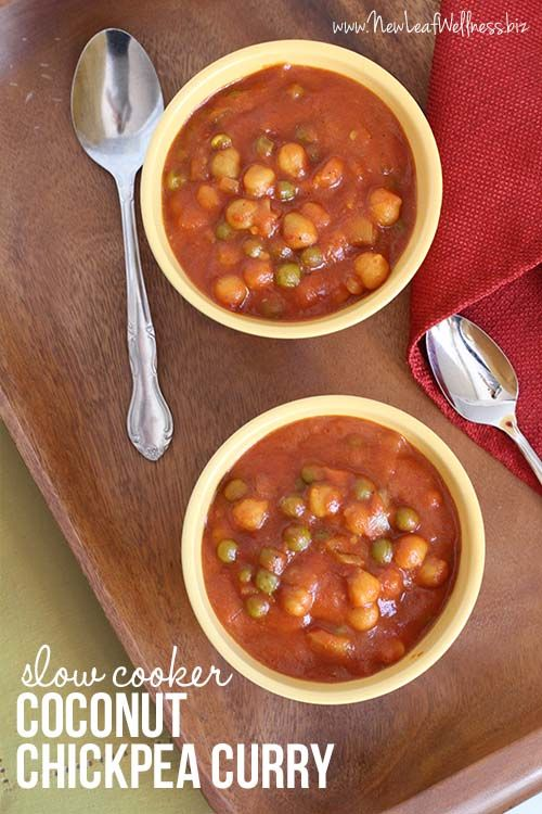 Slow Cooker Coconut Chickpea Curry. Yum!