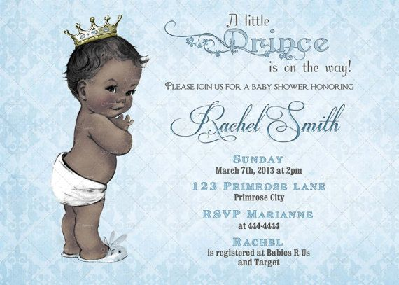 11 best shaes babyshowers a boy images on pinterest royal baby blue african american boy baby shower invitation royal baby boy shower invitation little prince shower invitation boy prince filmwisefo