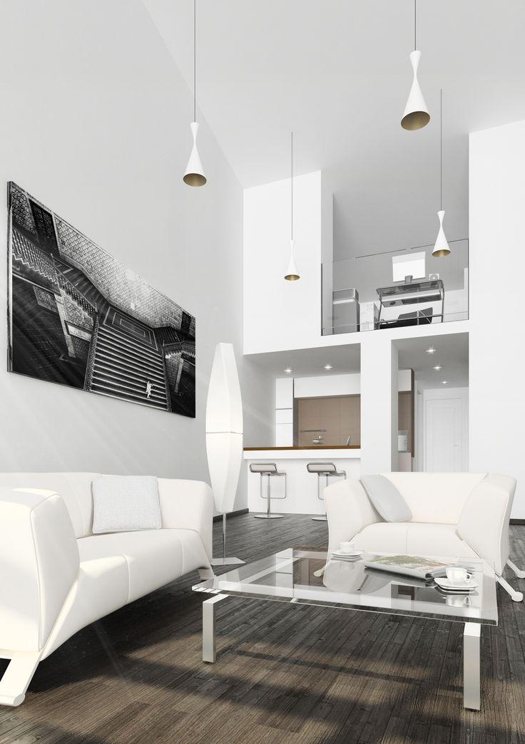 20 best images about decoraci n a doble altura on - Iluminacion de salones ...