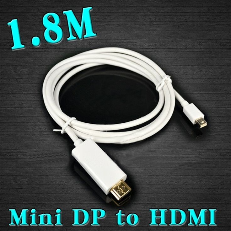 1.8M/6FT Mini Displayport MINI DP to HDMI Male Adapter Converter cable Thunderbolt Display Port For Apple Macbook Mac Air Pro