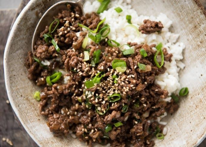 Asian Beef Bowls Super Quick Recipe Asian Beef Minced Beef Recipes Recipetin Eats