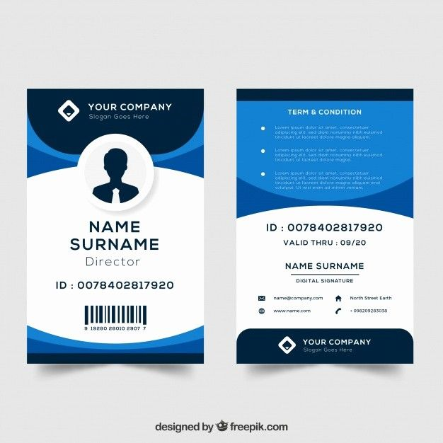 Id Card Template Free Download Luxury Id Card Template Vector Id Card Template Employee Id Card Card Templates Free
