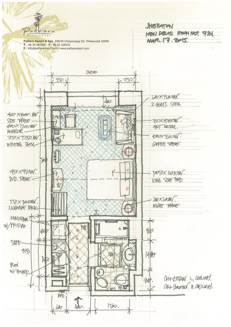 Pattara resort spa a interior hotel plan pinterest Sauna floor plans