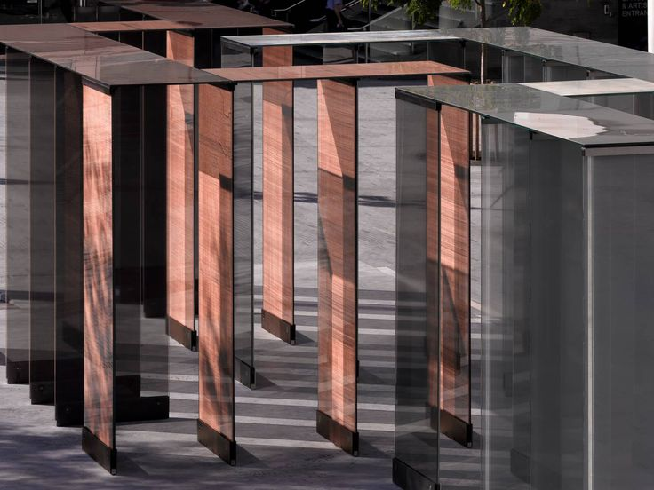 SEFAR mesh laminated glass in Copper and Black at Festival Hall