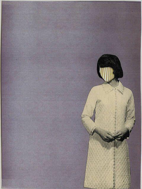 April Gertler: Lines on her face, collage, 2007, 14,8 x 19,8 cm