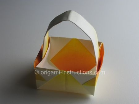 Simple Origami Flower Printable Instructions