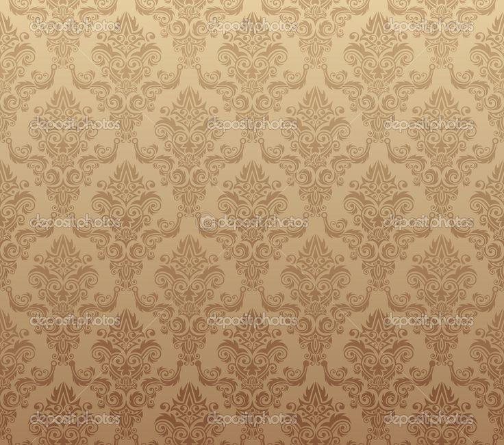 Patrón de papel tapiz transparente marrón — Vector stock © v ...