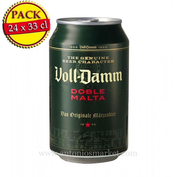 Voll Damm Doble malta Can (24 units pack)