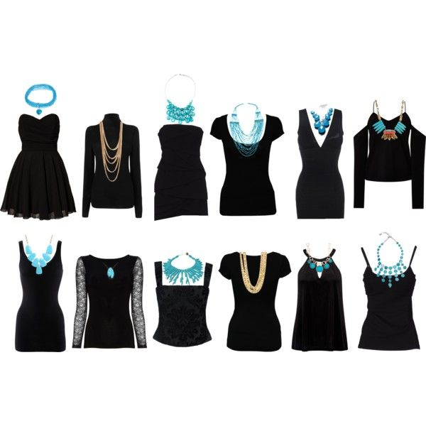 """Choosing Necklaces for necklines"" by elenapowell on Polyvore"
