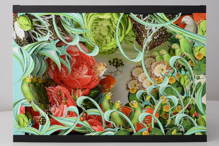 The garden, pop-up for the book New Botany, 2013, prototype, 26 x 43 x 30cm
