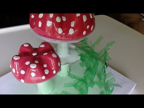 Recycled Water Bottle Crafts: Amanita Muscaria