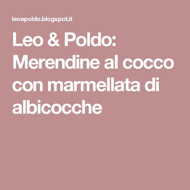 Leo & Poldo: Merendine al cocco con marmellata di albicocche