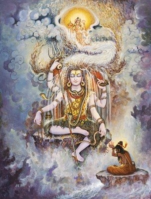 Ganga descended onto Earth with her shattering force following the penance of Bhagiratha threatening its very existence. Lord Shiva contained her in his locks and let out a peaceful stream to purify the bodies and souls of Earth.