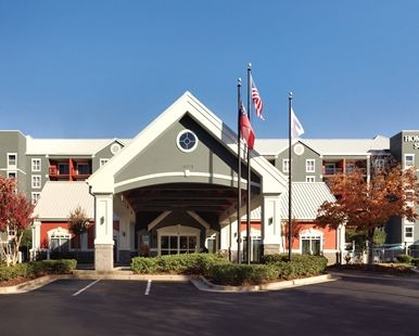 Homewood Suites by Hilton Atlanta-Alpharetta Hotel, GA - Front Entrance of the Hotel Exterior