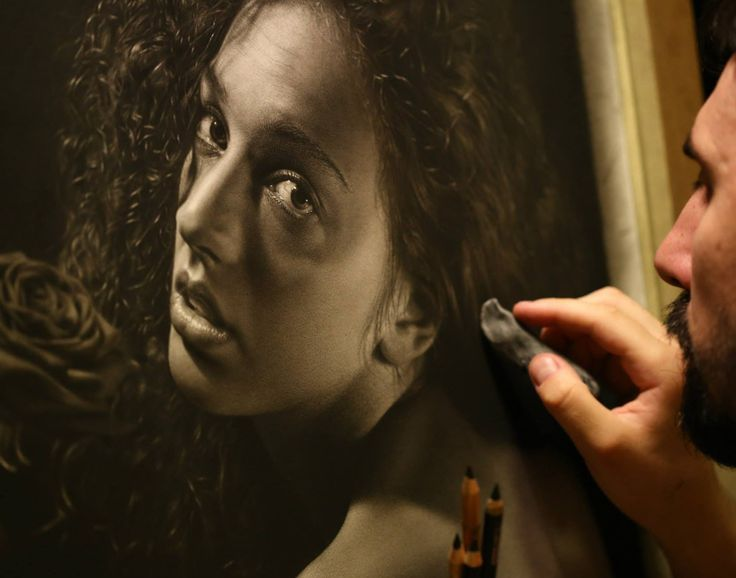 Best Realistic Art Images On Pinterest Drawings Painting - Artist uses pencils to create striking hyper realistic portraits