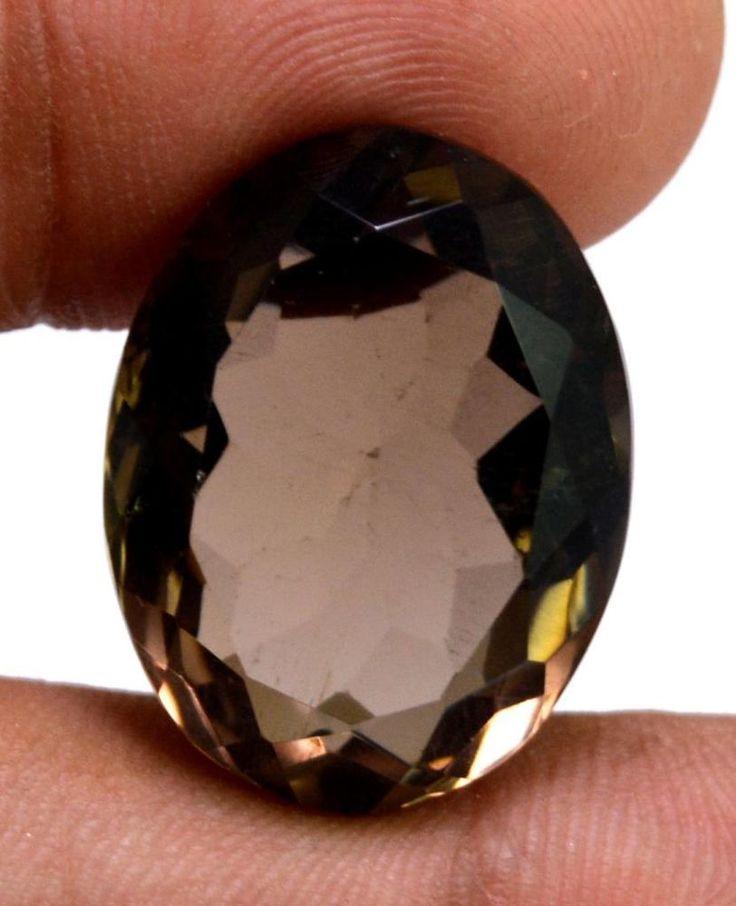30ct VS Quality Big Natural Oval Cut Smokey Quartz Loose Gemstone For Pendant #krishnagemsnjewels