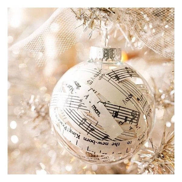 HOLIDAYS & PARTIES / Paper-Stuffed Christmas Ornament DIY found on Polyvore