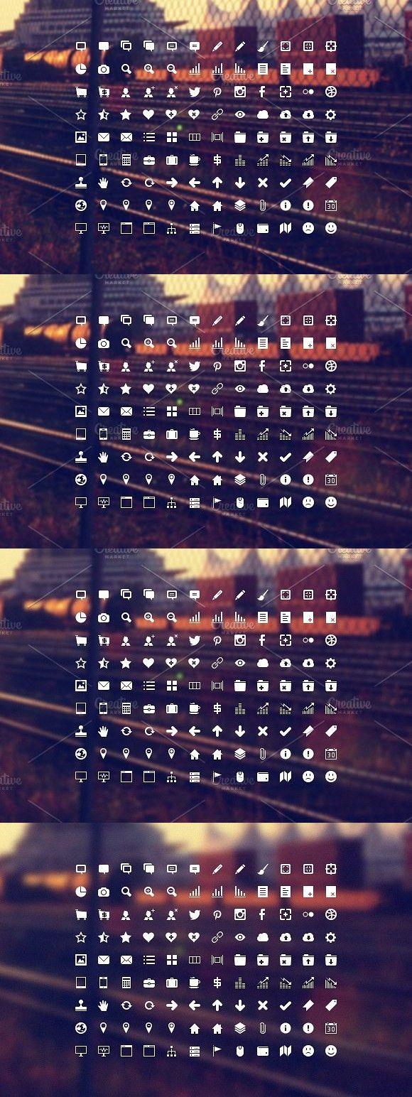 Developer Icon Set. Shapes #16x16 #32x32