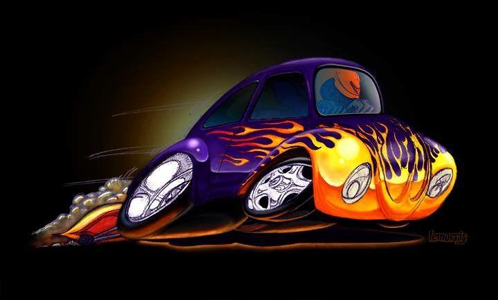 Cartoon VW Bug