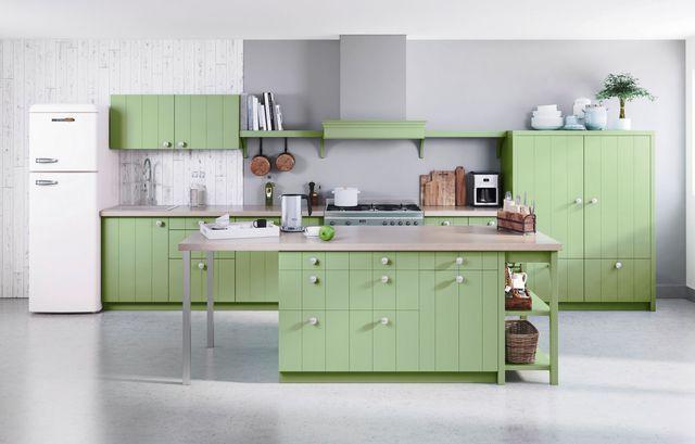 les 25 meilleures id es de la cat gorie cuisine vert sauge sur pinterest couleurs de la. Black Bedroom Furniture Sets. Home Design Ideas