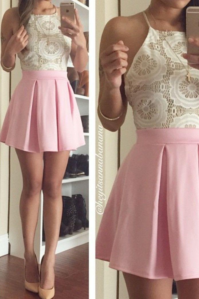 Falda rosa con olanes  mas colores