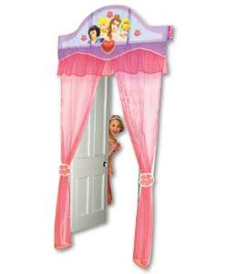 Disney Princess door curtain. Disney Princess Pinterest Party #DisneyPrincessWMT