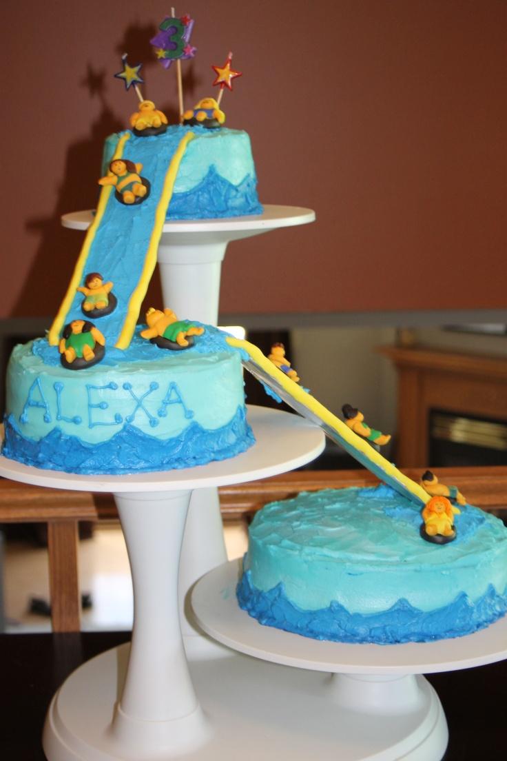 Waterslide Birthday Cake Waterslide Party Pinterest