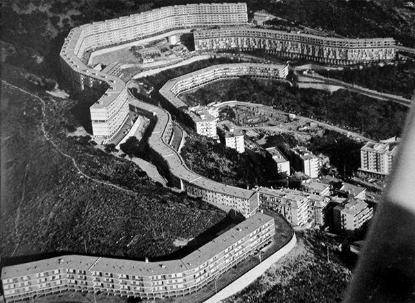 1956-58 Luigi Carlo Daneri,quartiere residenziale al Forte di Quezzi, Genova.