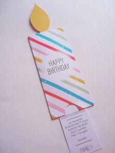 Réalisez Un Carton D'invitation D'anniversaire En Forme De Bougie | Mes 10 Doigts M'ont Dit