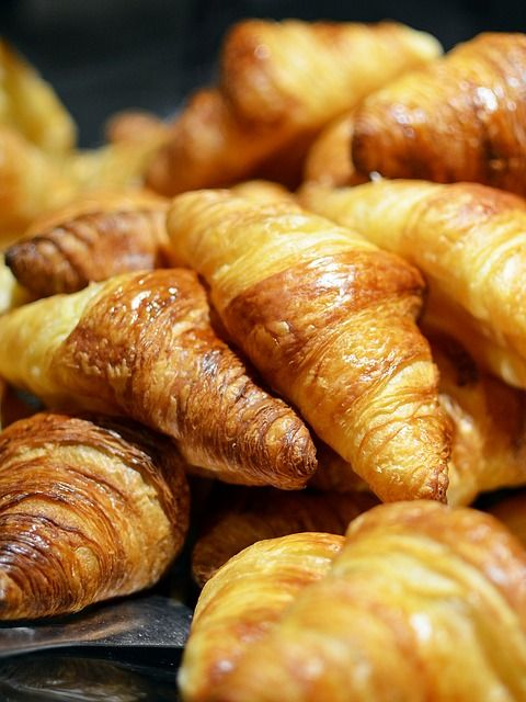 Croissants . Hot and flaky