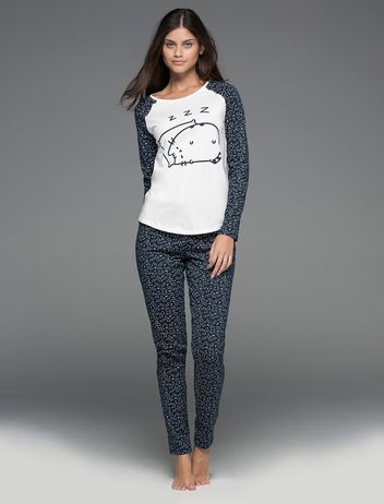 women'secret | Productos | Pijama largo de algodón de Pusheen