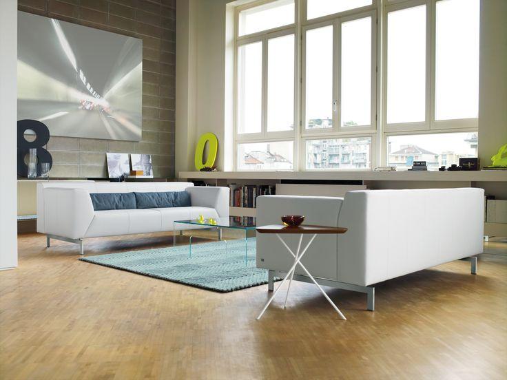 rolf benz linea sofas in white leather atelier plura sofa rolf benz