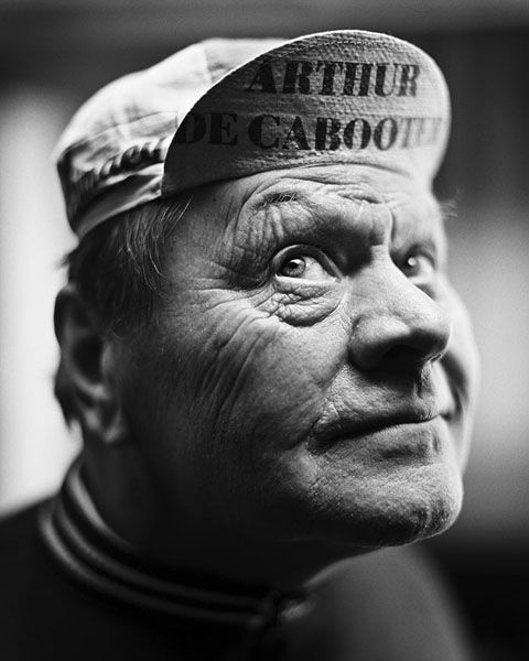 Arthur Decabooter (1936-2012) - Belgian professional racing cyclist, active as a professional between 1959 and 1967. Photo by Stephan Vanfleteren