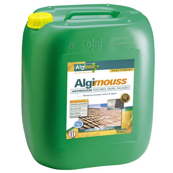 Traitement fongicide algimouss toitures murs et fa ades bidon de 30 litres nettoyage maison - Produit nettoyage facade maison ...
