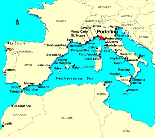map of portofino italy greece map