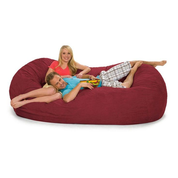 Relax Sack 7 ft. Microsuede Foam Bean Bag Lounger Red - 7OV-MS005