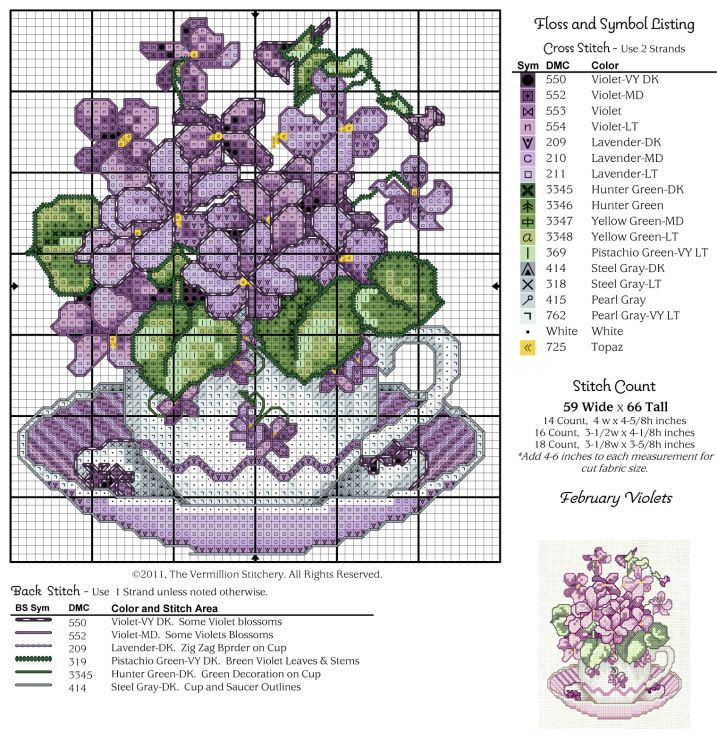 Free graph uploaded on non English site. February violets…