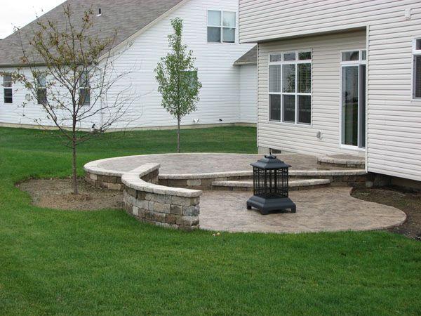 13 best patio images on pinterest | landscaping ideas, back garden ... - Raised Concrete Patio Ideas