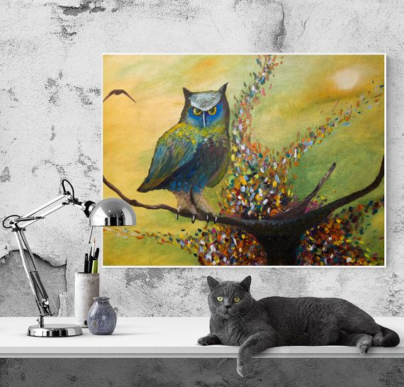 Oil Painting. A good gift to decorate the by GausCraftStudio