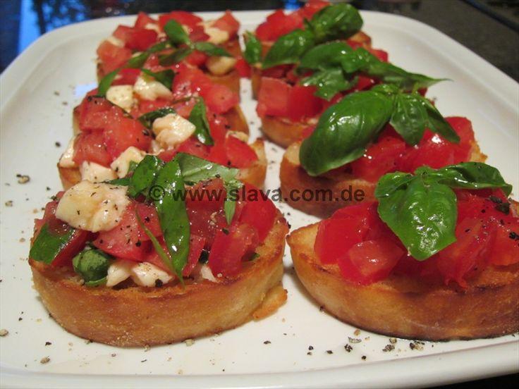 Bruschetta Caprese und al Pomodoro « kochen & backen leicht gemacht mit Schritt für Schritt Bilder von & mit Slava