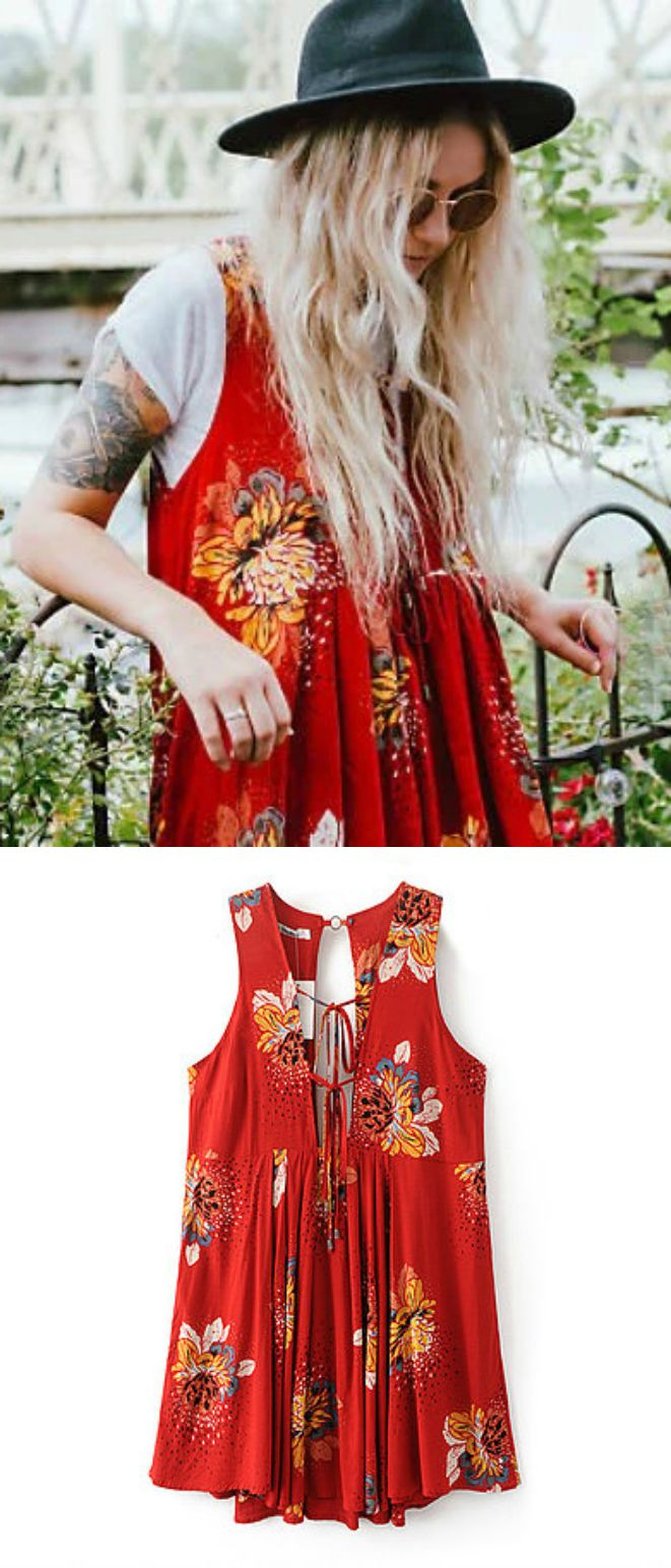 A Hippie Floral Dress as featured on Pasaboho. Now available at $36. ❤️  We Love boho style and Free Spirit Fashion Trend hippie girls sharing woman outfit ideas. *Available for wholesale :: bohemian clothes, cute dresses and skirts. Fashion trend and styles from hippie chic, modern vintage, gypsy style, boho chic, hmong ethnic, street style, geometric and floral outfits.
